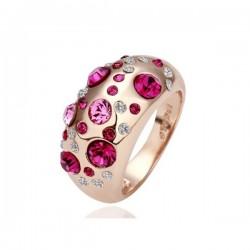 kristályos gyűrű Egyedi, nagy kövekkel díszített gyűrű