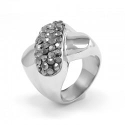 nemesacél gyűrű Crystal X nemesacél gyűrű