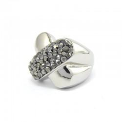 Crystal X nemesacél gyűrű