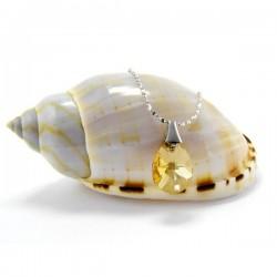 ezüst nyaklánc Aranyszínű Swarovski kristályos csepp medál, 925