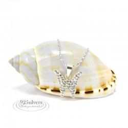 ezüst nyaklánc 925 ezüst Swarovski kristályos pillangó medál