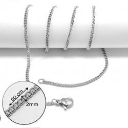 nemesacél nyaklánc Csavart nemesacél nyaklánc (50 cm)