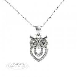 925 ezüst bagoly medál nyaklánccal