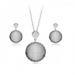 kristályos ékszerszett Görög mintás, kör alakú ékszerszett
