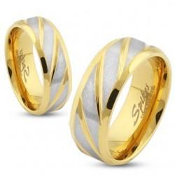Arany-ezüst színű nemesacél gyűrű