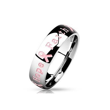 nemesacél gyűrű Nemesacélból készült gyűrű - Remény szalagja