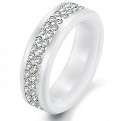 páros karikagyűrű Exkluziv kerámia gyűrű CZ kristállyal