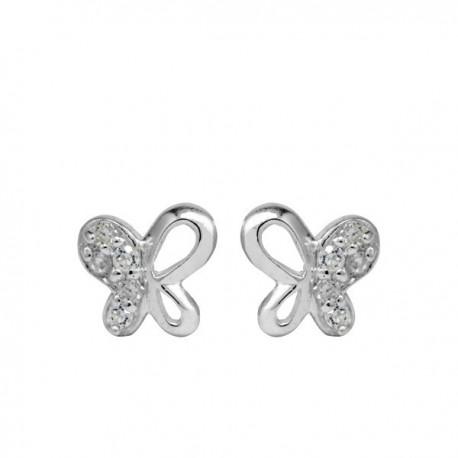 ezüst fülbevaló Ezüst lepkék kristályos fülbevaló