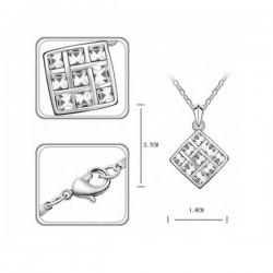 kristályos nyaklánc Fehér köves mozaik nyaklánc