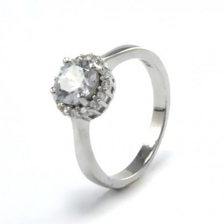 ezüst gyűrű Elegáns gyűrű ezüstből, fehér cirkónia kővel