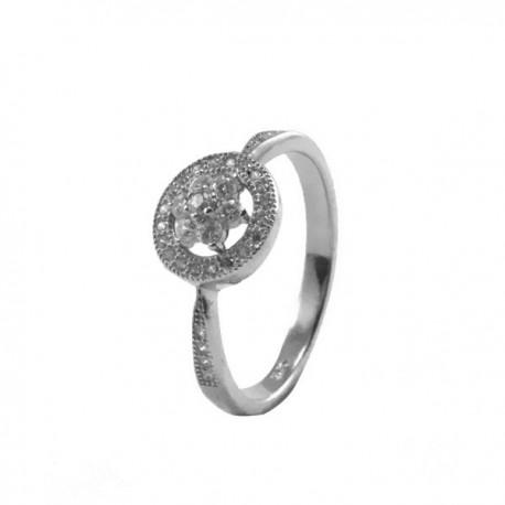 ezüst gyűrű Ezüst jégvirág gyűrű - kör