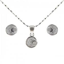 ezüst ékszerszett Kristályos körök ékszerszett ezüstből