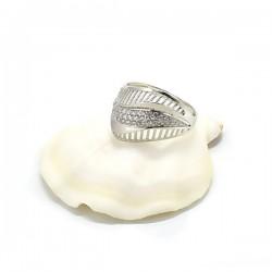 ezüst gyűrű Elegáns, CZ kristályos ezüst gyűrű