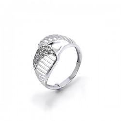 ezüst gyűrű CZ köves, elegáns gyűrű 925 ezüstből