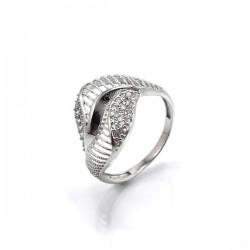 CZ köves, elegáns gyűrű 925 sterling ezüstből