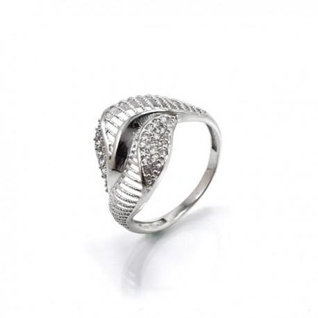 ezüst gyűrű CZ köves, elegáns gyűrű 925 sterling ezüstből