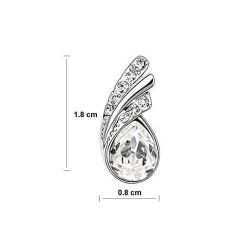 esküvői fülbevaló Fehér kristályos csepp fülbevaló