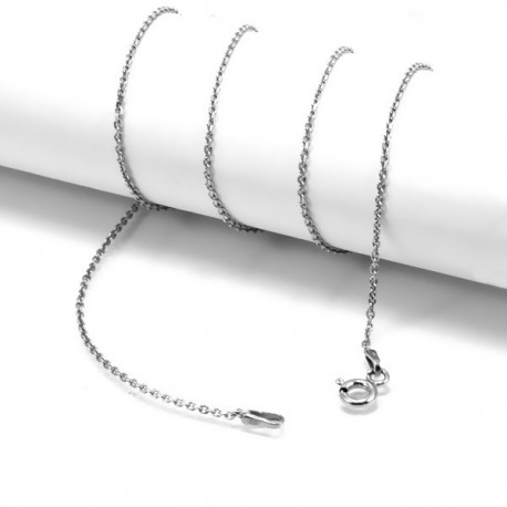 ezüst nyaklánc Sterling ezüst nyaklánc ródium bevonattal - 45 cm