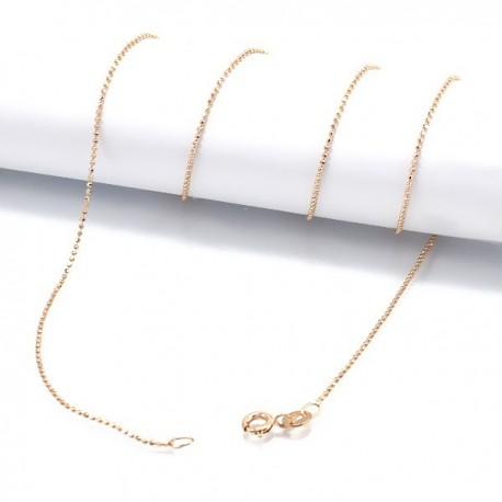 ezüst nyaklánc Sterling ezüst nyaklánc, arany bevonattal - 50 cm