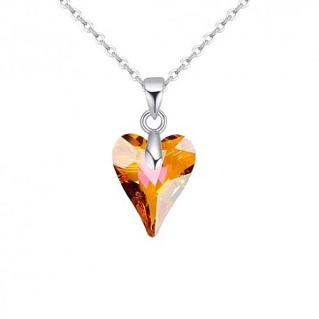 kristályos nyaklánc Swarovski kristályos vad szív medál