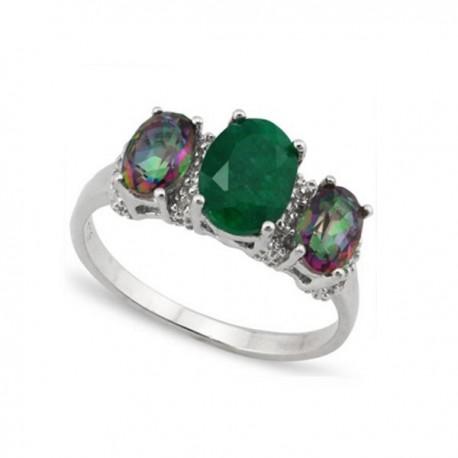 ezüst gyűrű 925 ezüst gyűrű smaragddal