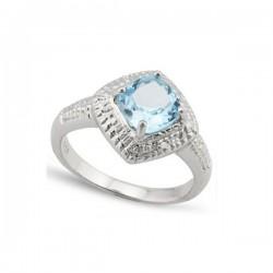 topáz köves gyűrű, 925 ezüstből