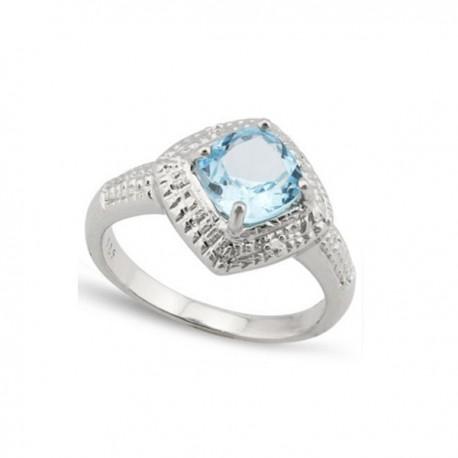 ezüst gyűrű topáz köves gyűrű, 925 ezüstből