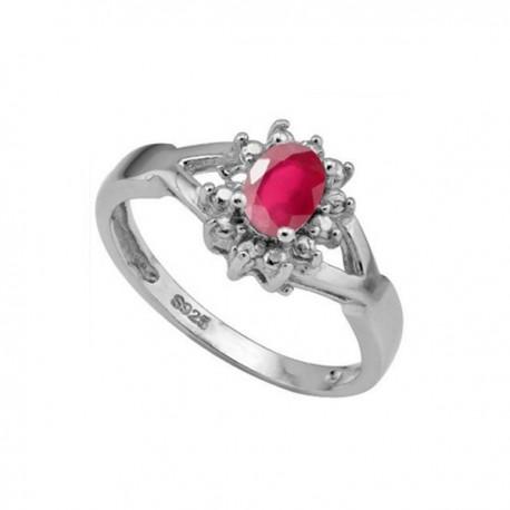 ezüst gyűrű Rubin köves 925 ezüst gyűrű