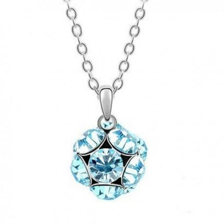 kristályos nyaklánc Kék kristályos shamballa stílusú nyaklánc