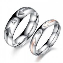 páros karikagyűrű Mintás férfi karikagyűrű cirkóniával