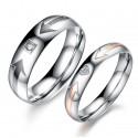 páros karikagyűrű Mintás női karikagyűrű cirkóniával