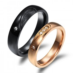 páros karikagyűrű Rózsaaranyozott női nemesacél gyűrű