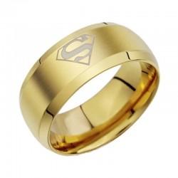 Superwoman - aranyozott, női nemesacél gyűrű