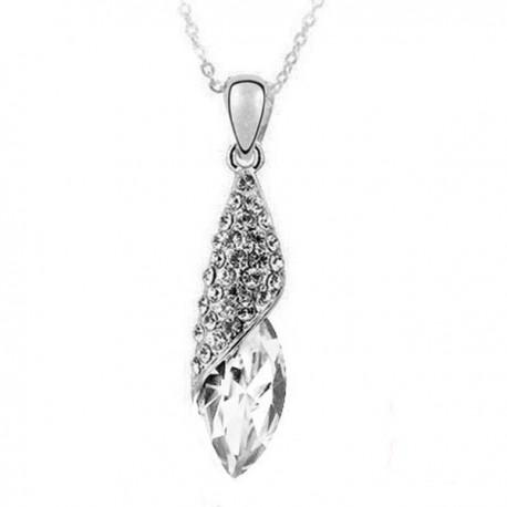 kristályos nyaklánc Fehér kristályos jégcsepp nyaklánc