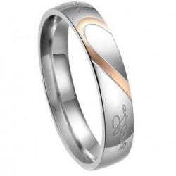 páros karikagyűrű Női karikagyűrű felirattal, nemesacélból
