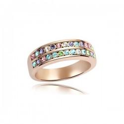 kristályos gyűrű Apró köves, dupla soros elegáns gyűrű