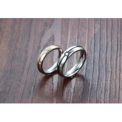 páros karikagyűrű Kéttónusú női karikagyűrű cirkóniával