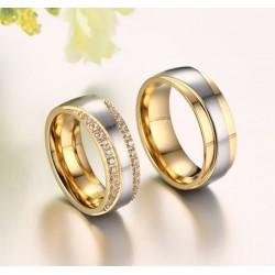 páros karikagyűrű Exkluzív női karikagyűrű kristályokkal