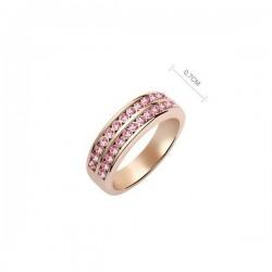 kristályos gyűrű Apró köves, dupla soros elegáns gyűrű -