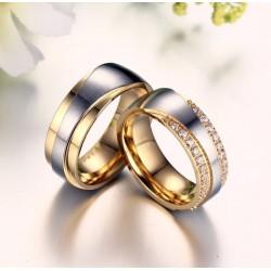 Exkluzív férfi nemesacél karikagyűrű, arany bevonattal