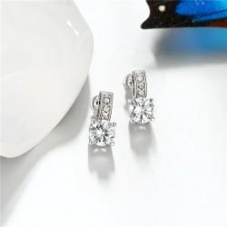 esküvői fülbevaló Ragyogó, CZ kristályos fülbevaló platina