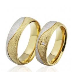 páros karikagyűrű Csillogó szemcsés férfi karikagyűrű