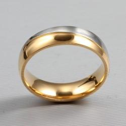 páros karikagyűrű Kéttónúsú férfi karikagyűrű nemesacélból
