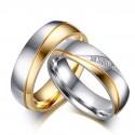 Kéttónúsú női nemesacél karikagyűrű