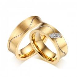 Aranyozott férfi nemesacél karikagyűrű