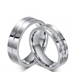 Nemesacél férfi karikagyűrű