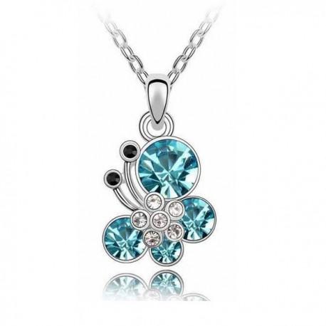 kristályos nyaklánc Kék kristályos pillangós nyaklánc