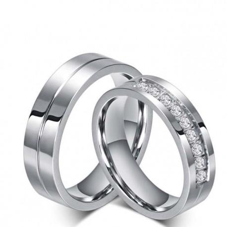 páros karikagyűrű Nemesacél női karikagyűrű