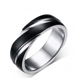 Bordázott férfi nemesacél gyűrű