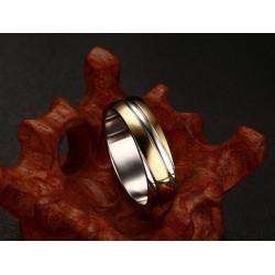 páros karikagyűrű Bordázott női gyűrű nemesacélból, arany